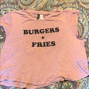 Divided Burgers and Fries flowy top